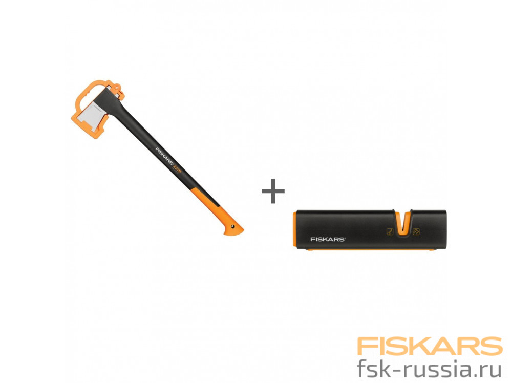 Топор-колун Fiskars L, X21 + Точилка Xsharp™ в подарок!