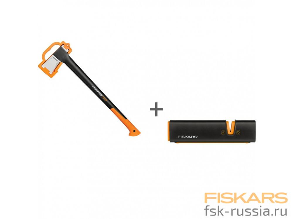 Топор-колун Fiskars XL, X25 + Точилка Xsharp™ в подарок!