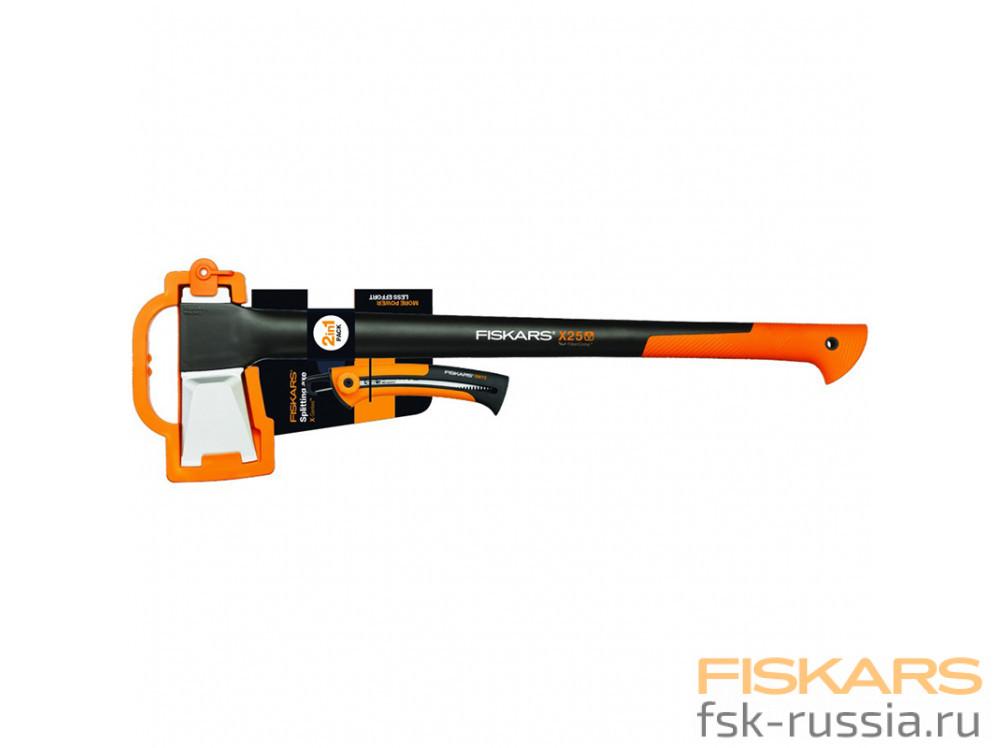 Набор Fiskars Топор X25 + Пила SW72